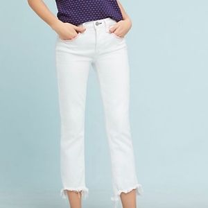 NWT Anthropologie McGuire Valetta White Cropped 29